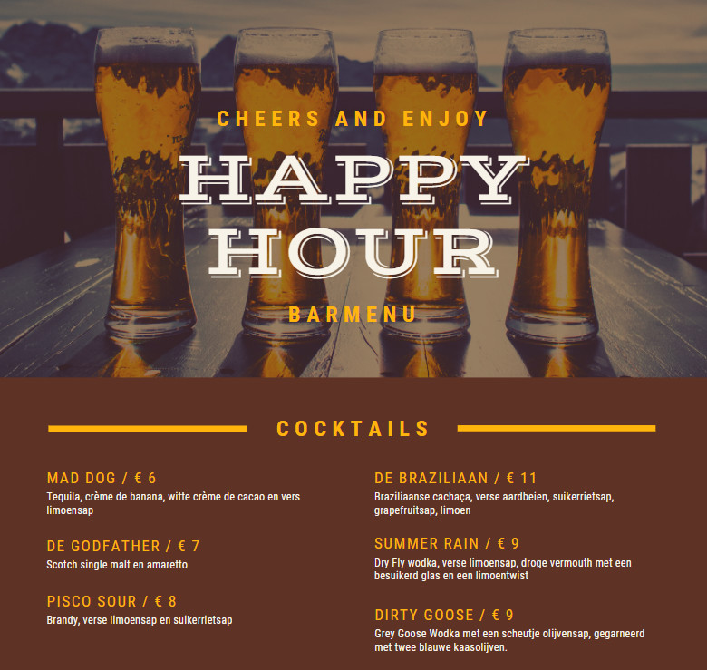 Happy Hour Pub Offer