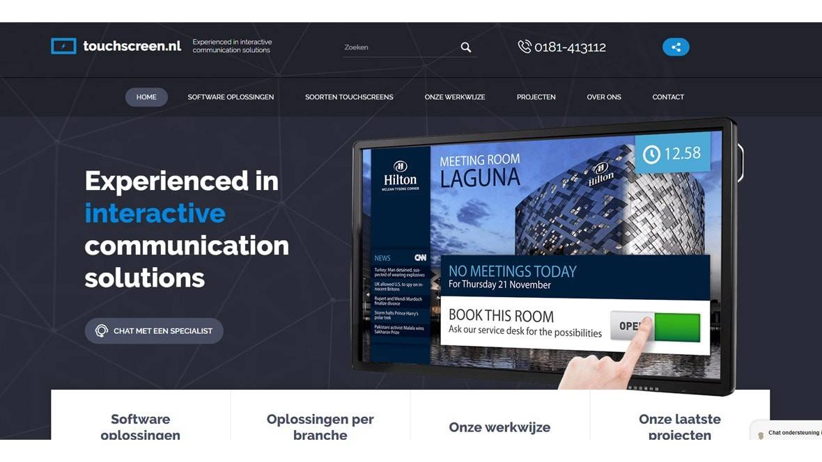 Touchscreen.nl - Our sister website - Gallery templateSlide 1 min